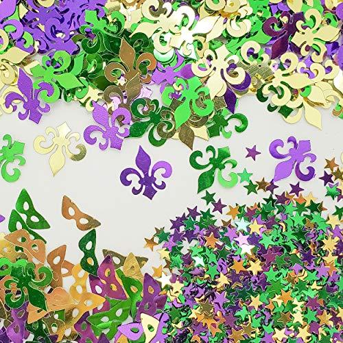 Mardi Gras Confetti 3 Styles Value Pack 1.5 oz (42 - Mask Confetti