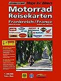 RV Motorrad-Reisekarte Frankreich Süd mit Korsika