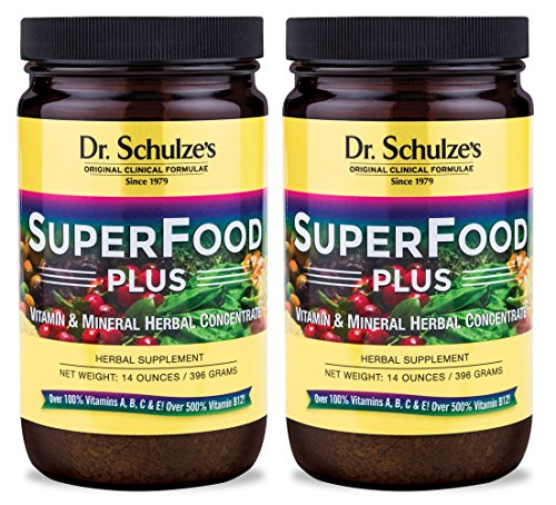 Dr. Schulze's Superfood Plus - Natural Herbal Product - 14oz Powder - 2 Pack by Dr. Schulze's