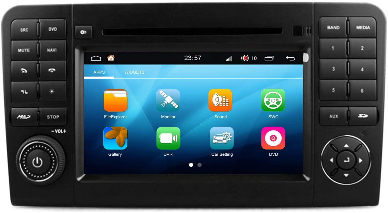 Roverone Android System 7 Zoll Doppel Din In Dash Car Gps Navi Navigation Für Mercedes Benz Ml Gl Klasse X164 W164 Ml350 Ml320 Ml300 Ml450 Mit Autoradio Stereo Dvd Sd Usb Touch Bildschirm Amazon De