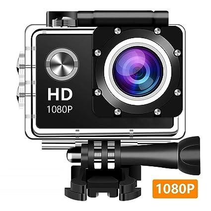 EM5000 Action Camera, Dabige 12MP 1080P 2 Inch LCD Screen, Waterproof Sports Cam