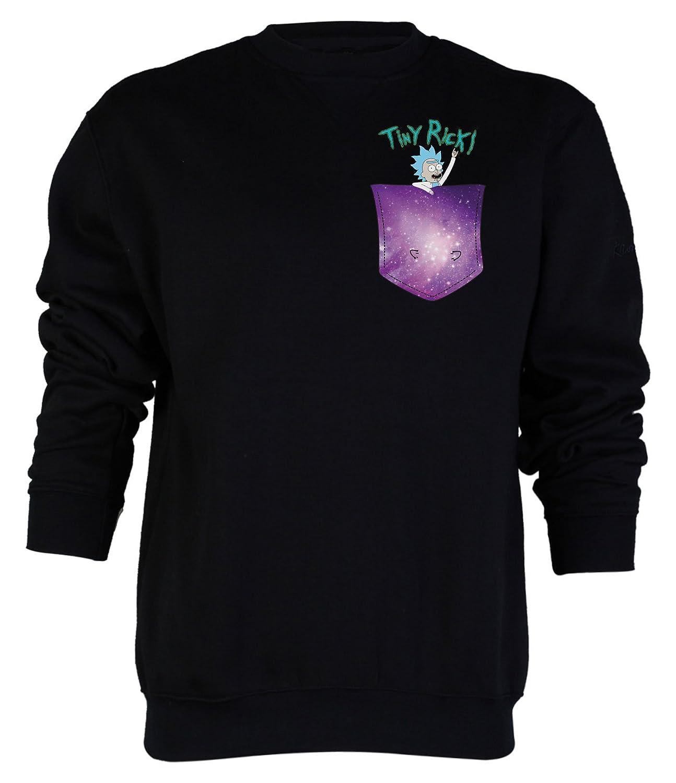 Tiny Rick Space Pocket Jumper Sweatshirt, Rick & Morty Inspired Mens Top