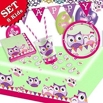 Búho Bonito Cumpleaños de decoración, Set 54 piezas para ...