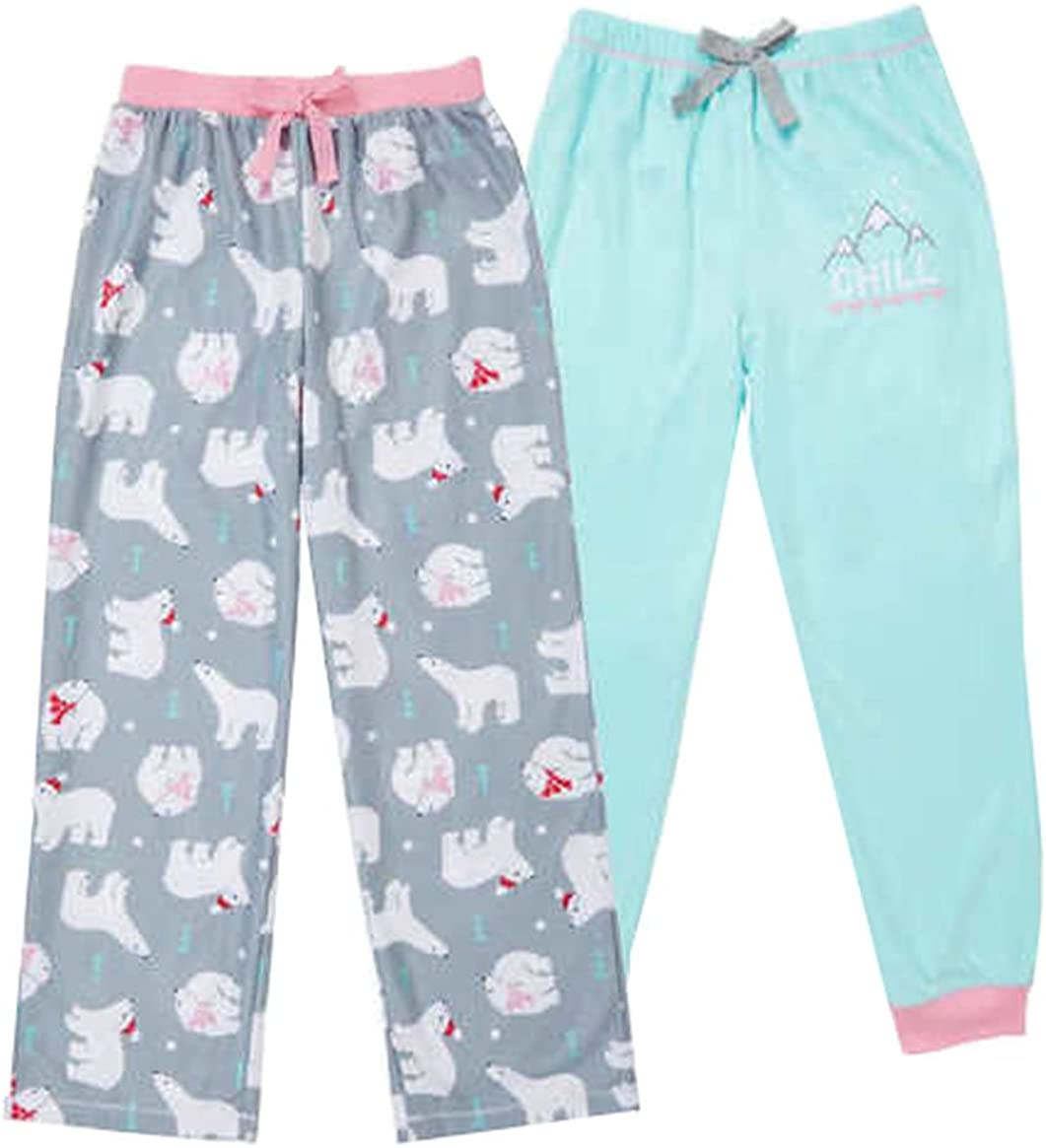 Color Light Green Saint Eve 2 Pack Kids Sleep Pant Flame Resistant Solid /& Print Size Grey. 7