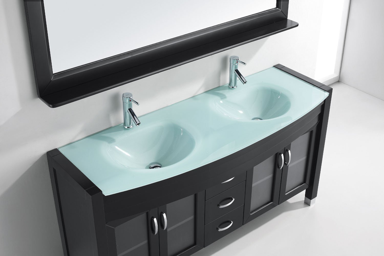 Virtu USA MD-499-G-ES Ava 63-Inch Double Sink Bathroom Vanity Set ...