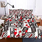 MOUMOUHOME Girls Bedding Sets Queen Size 3D Betty