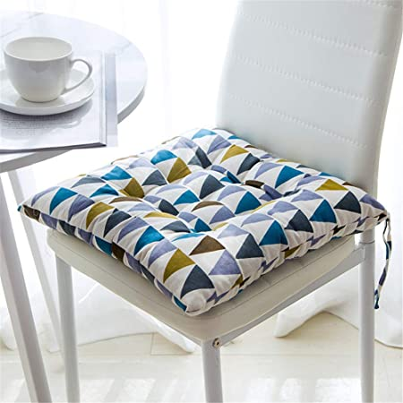 Juego de 4 cojines de asiento de GLITZFAS de 40 x 40 cm, cojines para sillas de jardín, balcón, terraza, Farbdreieck, Platz: Amazon.es: Hogar