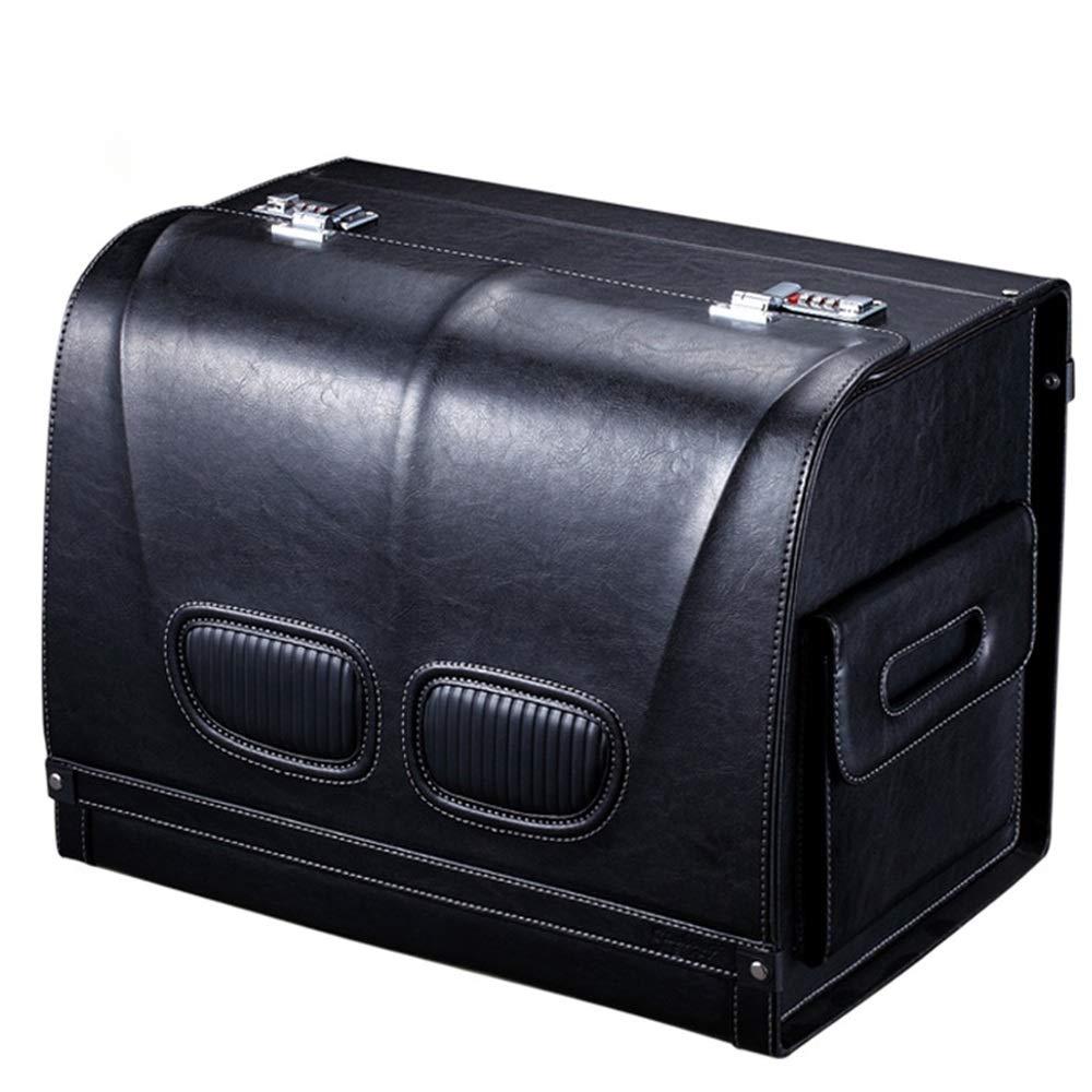 Qichengdian Auto Aufbewahrungsbox LKW-Aufbewahrungsbox PU-Leder Abschließbare Gepäckaufbewahrungsbox for PKW Universal-Gepäckaufbewahrungsbox for Kleine Und Große PKW Für Autowerkzeuge und -geräte