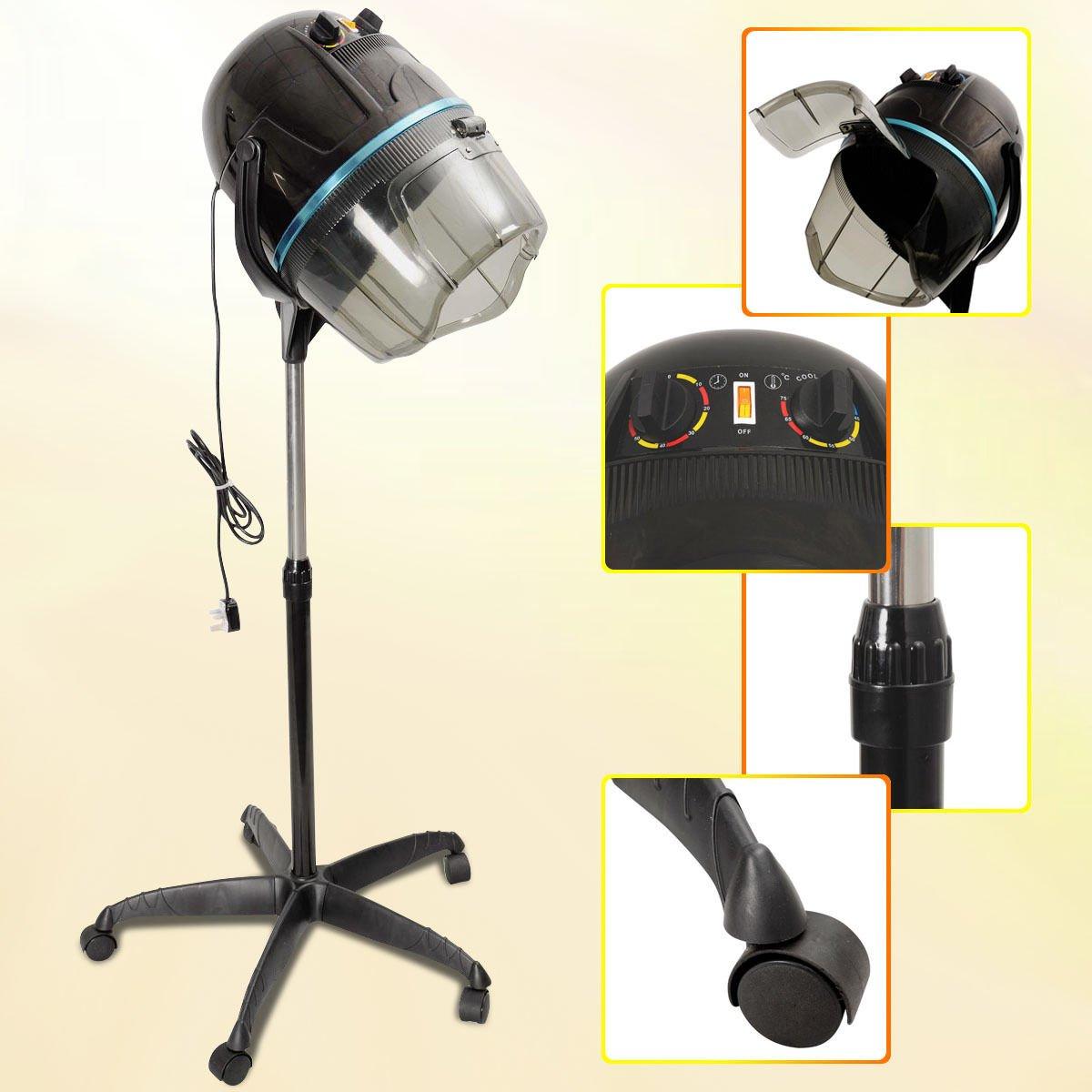 Costway Portable Hair Dryer Hood Salon Hairdryer Stand Professional Hairdresser Floor