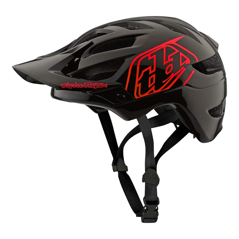 Troy Lee Designs Youth Kids | Trail | Enduro | Half Shell A1 Drone Mountain Biking Helmet (Youth, Black/Red)