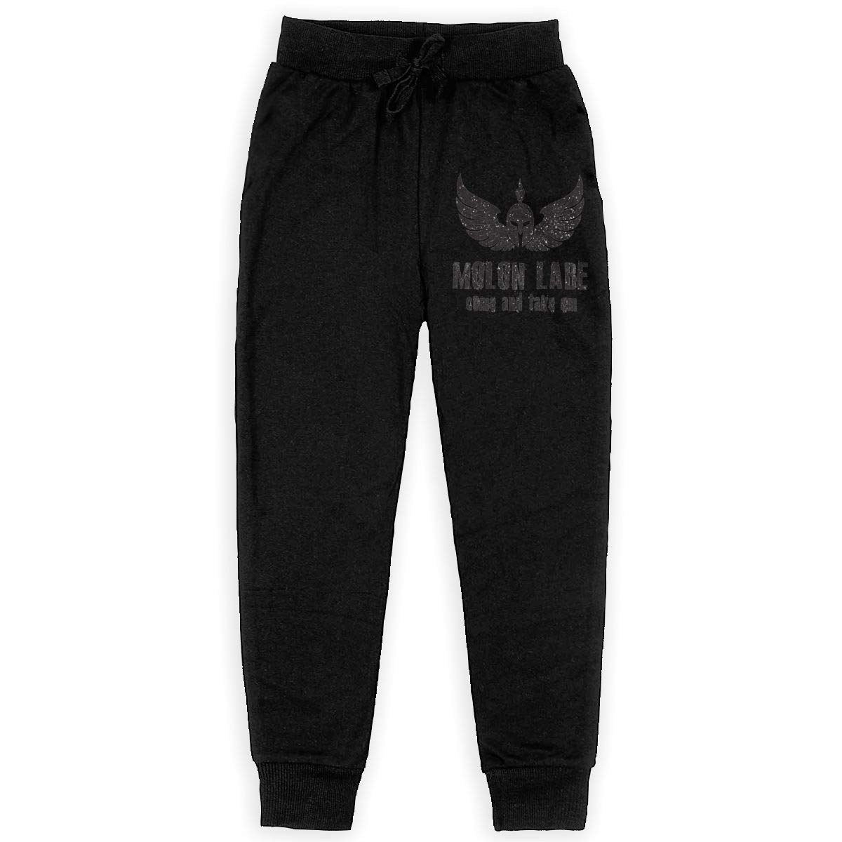 Dunpaiaa Come and Take Them Molon Labe Logo Boys Sweatpants,Joggers Sport Training Pants Trousers Black