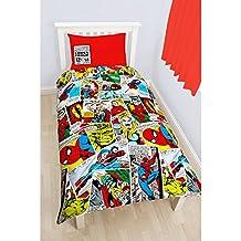 Marvel Comics Childrens/Kids Justice Reversible Duvet Cover Bedding Set (Twin) (Multicoloured)  Single size  /duvet cover 200cm x 133cm //pillow case 48cm x 74cm