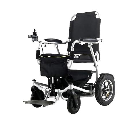 WZB Silla de Ruedas eléctrica Plegable para Movilidad con ...