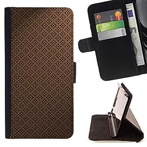 Jordan Colourful Shop - pattern wallpaper brown coffee classic For Samsung Galaxy S5 V SM-G900 - < Leather Case Absorci????n cubierta de la caja de alto impacto > -