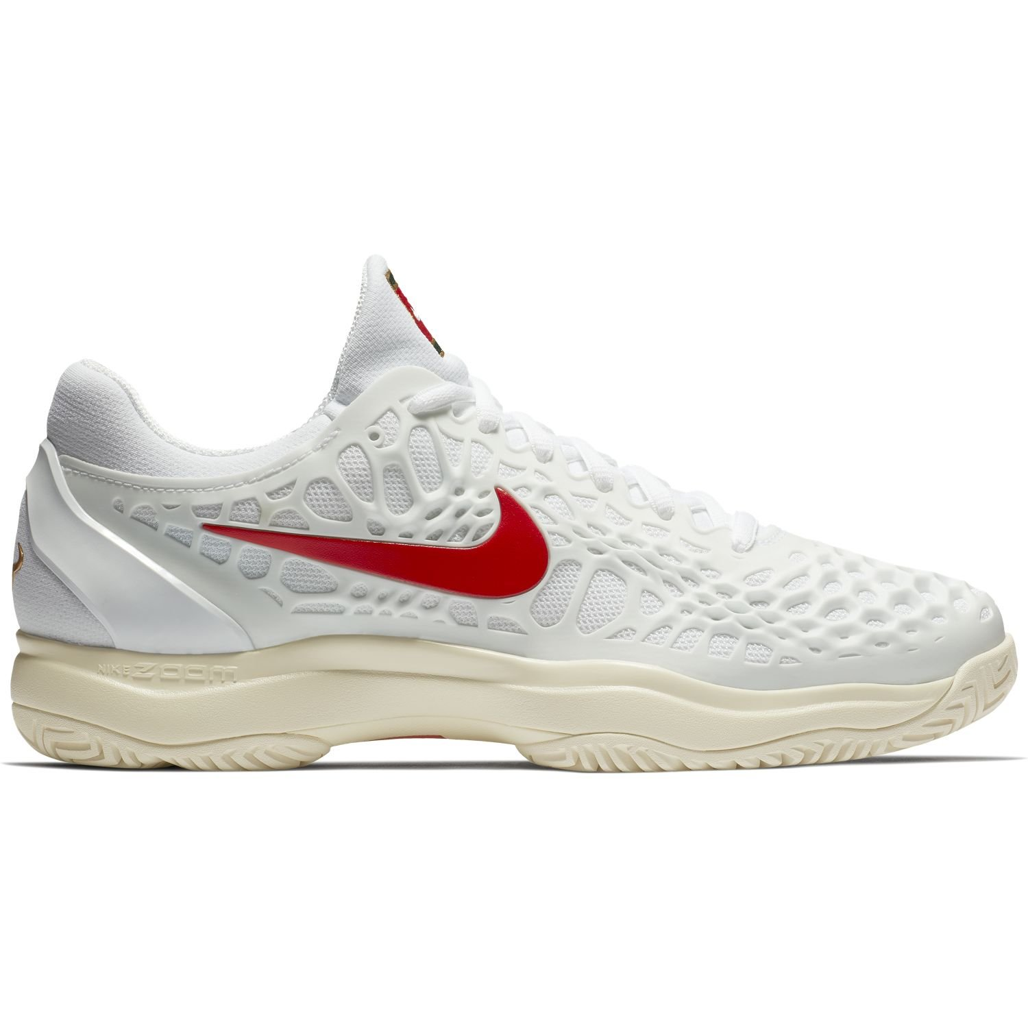 Nike Mens Zoom Cage 3 Tennis Shoes B078B5GDWS 8 D(M) US|White/University Red/Light Cream