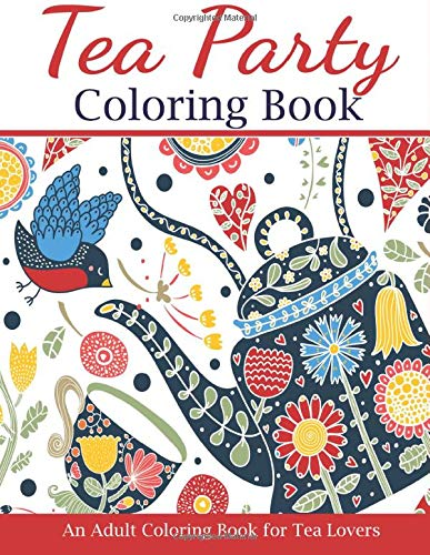 Tea Party Coloring Book Lovers product image