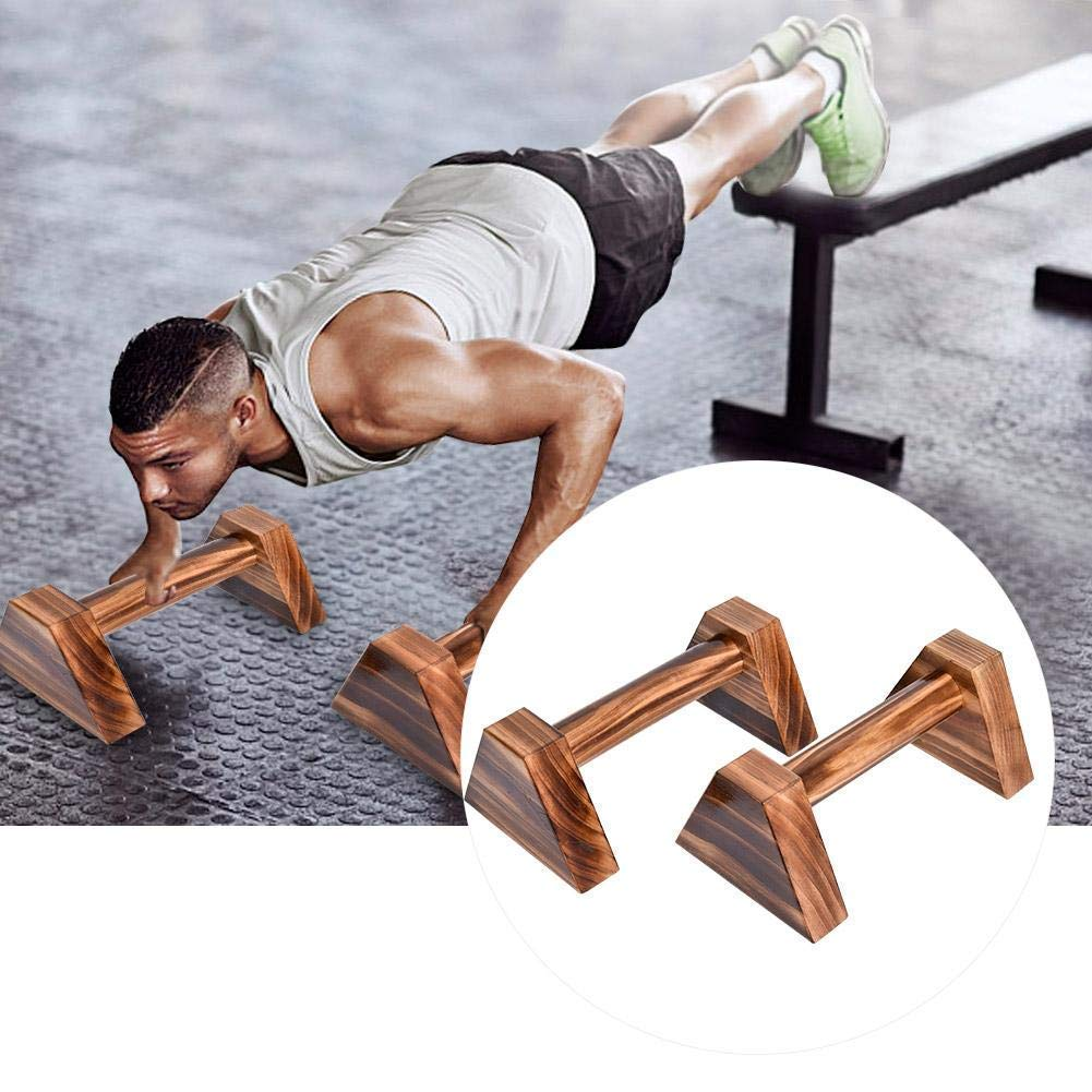 Anclle Parallettes Stretch Stand Pushup Stands Personalised Bars Wooden Push Up Bar Handstand Bars Calisthenics Handstand Single Double Handles Headstand Shelf Push-Ups Double Rod 2PCS