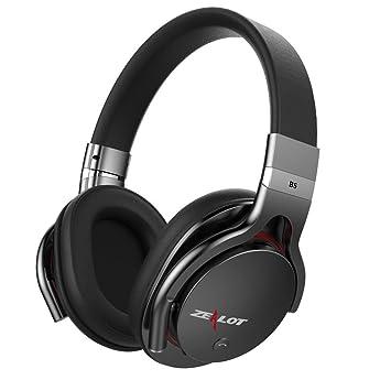 Zealot B5 Auricular Bluetooth sobre la oreja alambrado inalambrico estilo clasico, Auriculares Bluetooth (Negro): Amazon.es: Electrónica
