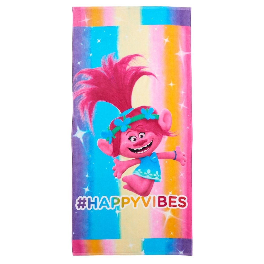 Dreamworks Trolls Poppy Happy Vibes Beach Towel 28 x 58 Franco