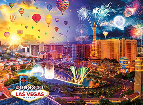 Buffalo Games - Day to Night - Fabulous Las Vegas - 1000 Piece Jigsaw Puzzle