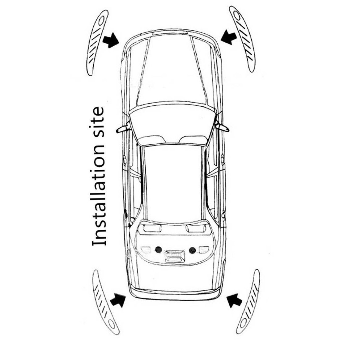 ZYHW 4 Pcs Black Auto Car Body Bumper Guard Protector Sticker Bar Strip ZHY20170222107