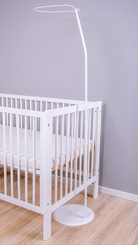 Sternchen Hellblau, Chiffonhimmel Amilian/® Chiffonhimmel Himmel Betthimmel f/ür Baby Kinder mit Stickerei