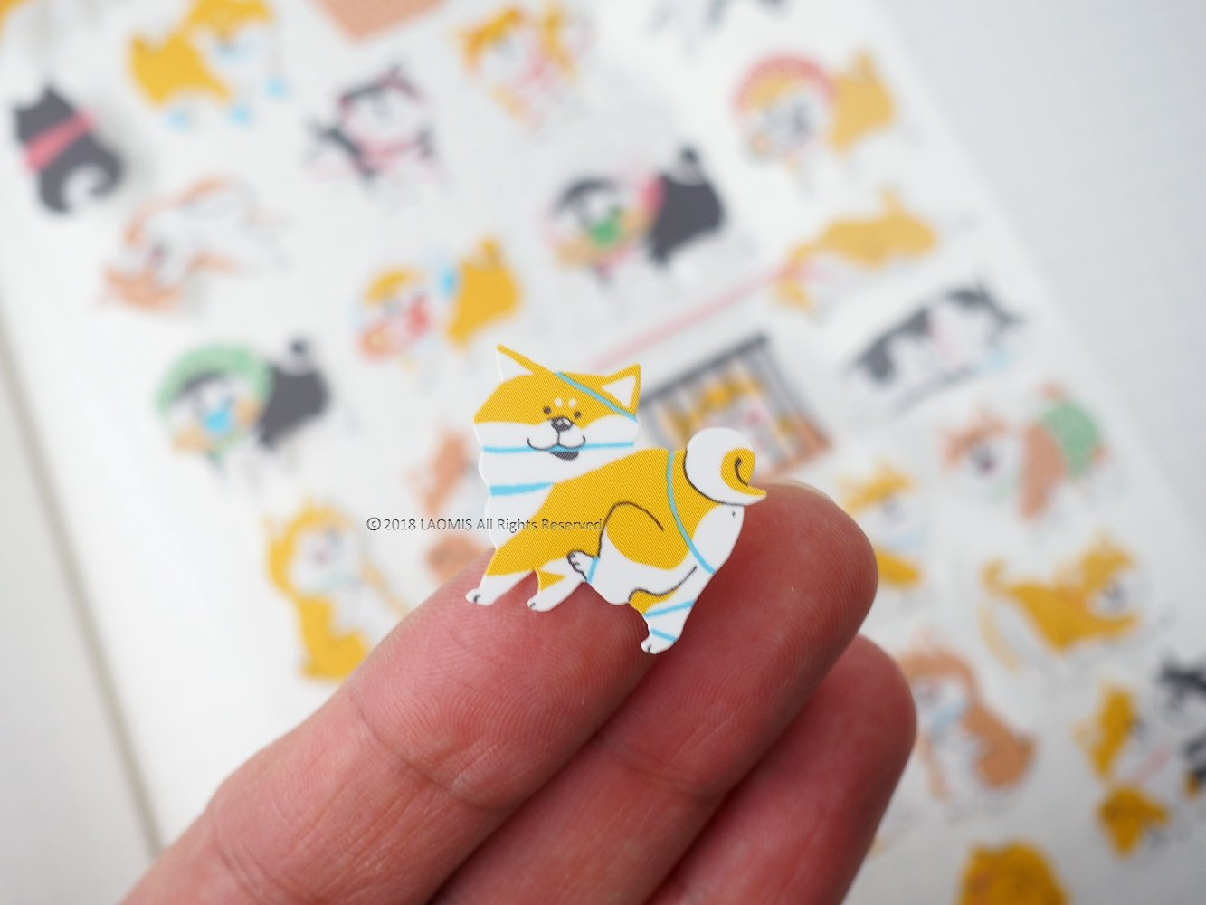 Mind Wave Japanese Shiba Inu Wood-free Paper Sticker Sheets Pack of 2 77 Stickers