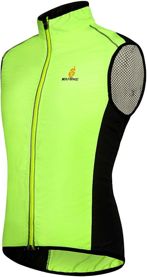 Hysenm Le Tour de France Gilet Veste Sans Manche 100/% Polyester Coupe-vent Respiration L/éger D/éperlance Pour Cyclisme Course /à Pied Randonn/ée