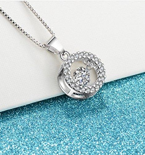 usongs Korean fashion Taobao selling ultra-flash silver flash Smart Micro Pave diamond center 925 silver necklace