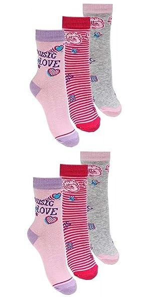 Calcetines infantiles de Violetta, rosa, gris, fucsia, pack de 6 - 27-30: Amazon.es: Ropa y accesorios