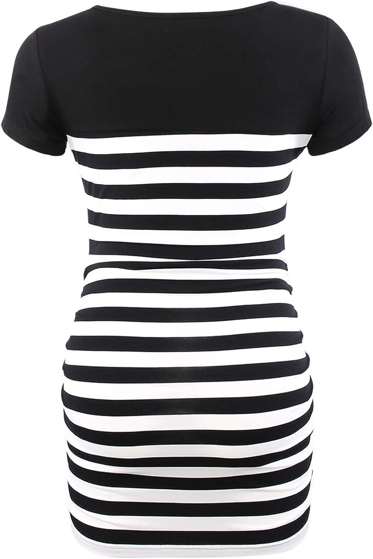 Love2Mi T-Shirt de Grossesse /à Manches Longues et col Rond pour Femme