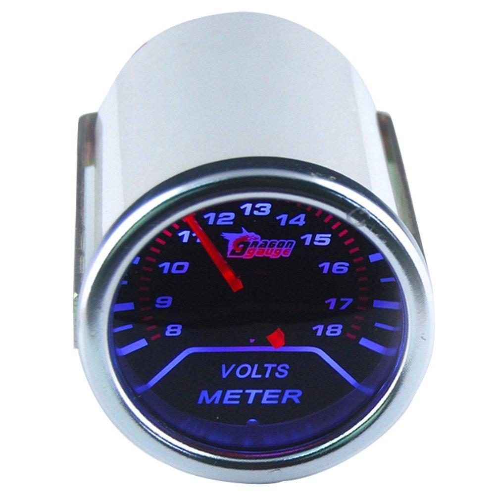 Mintice/™ Moteur de voiture universel Teinte de fum/ée len 2 52mm Bar indicateur Mesure de la temp/érature de leau m/ètre