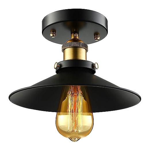 GWFVA Iluminación de Techo Lámpara de Techo Vintage Mesa de ...