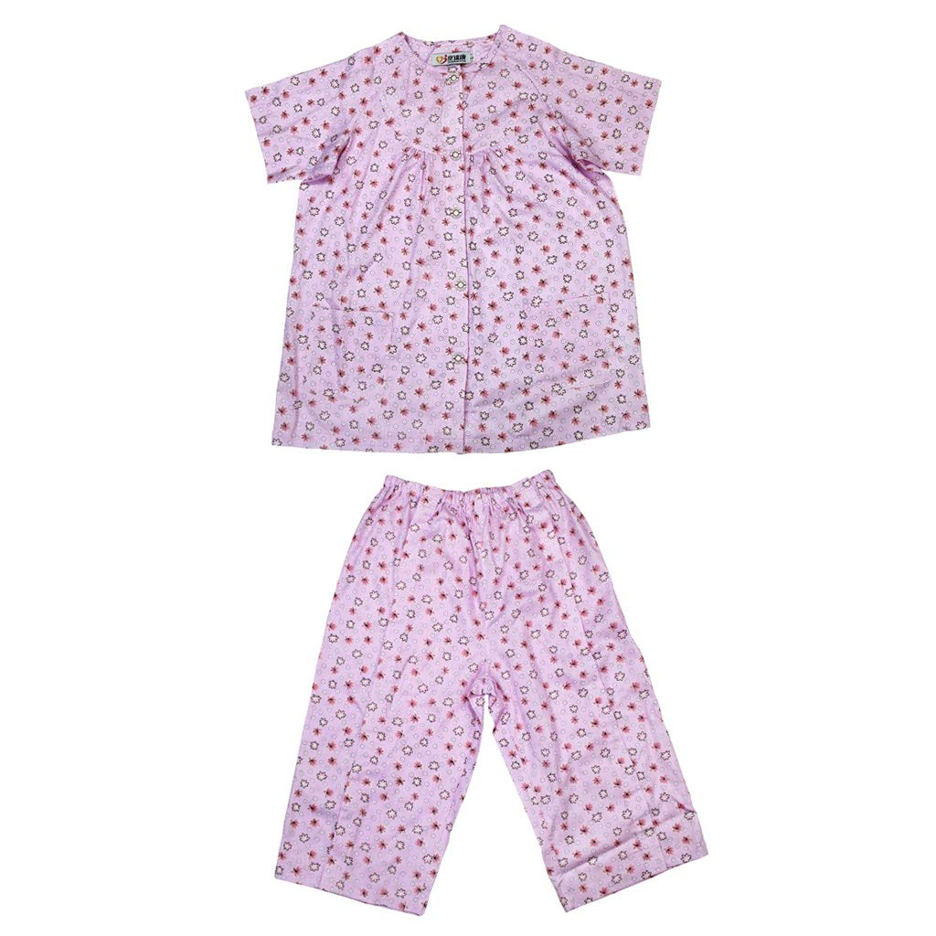 Prettyia 1 Suit Women Hospital Patient Clothes Pajamas with Magic Stickers Easy On and Off Incontinence Aids - XXL