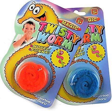 1PC Amazing Magic Trick Twisty Fuzzy Worm Wiggle Moving Sea Horse Kids Toy BR