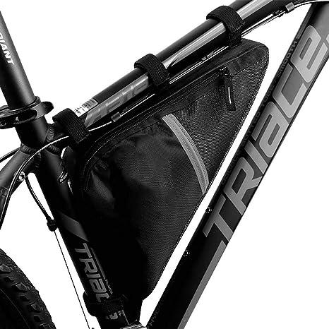 ZABA - Bolsa de Marco Triangular para Bicicleta (Resistente al ...
