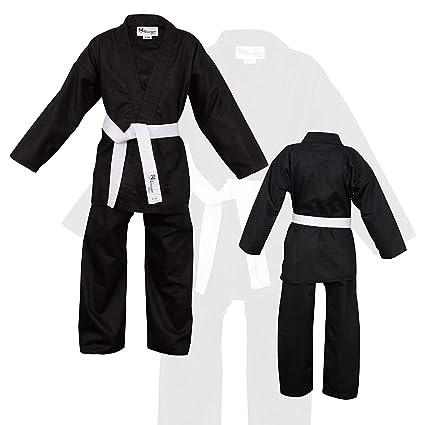 Norman Negro Infantil Traje de Karate Cinturón Blanco Gratis ...