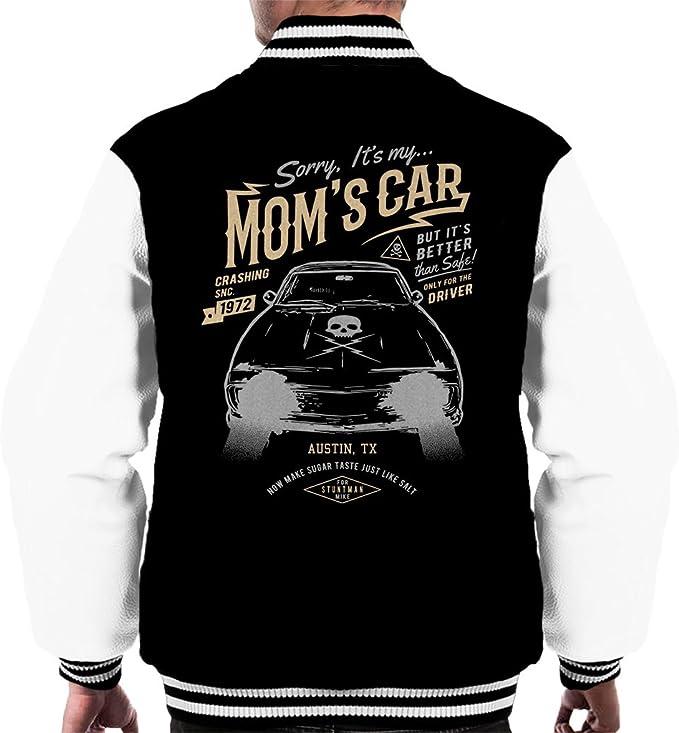 Moms Car Death Proof Mens Varsity Jacket