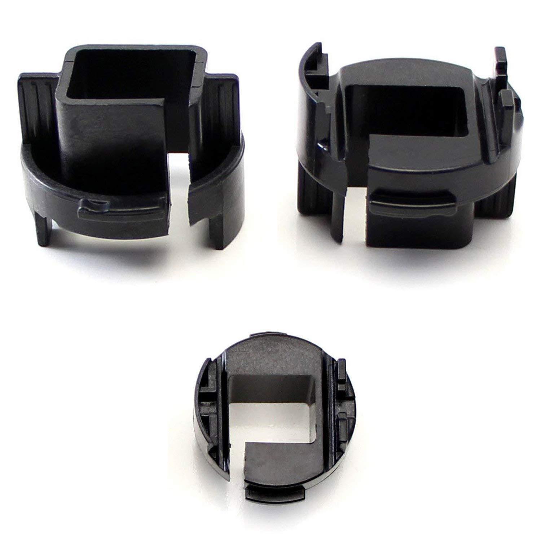 iJDMTOY (2) H7 HID Bulbs Holders Adapters For Kia Forte Koup or Kia Rio Halogen Headlights Installing HID Conversion Kit iJDMTOY Auto Accessories For Repair Custom Retrofit