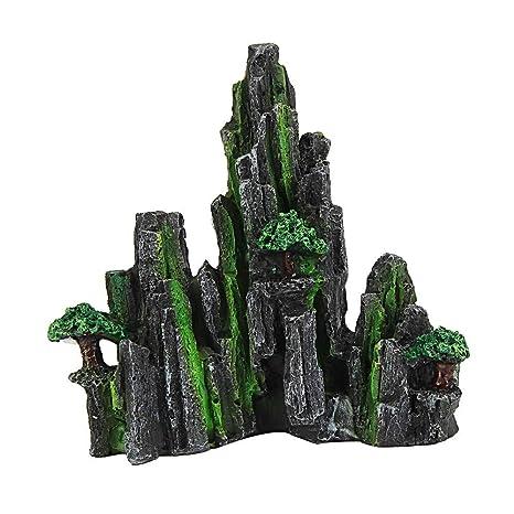 Piebo Dibujos Animados Resina Castillo acuarios Castillo decoración Acuario pecera Torre