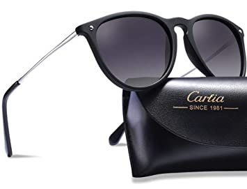 71a85fda32c Carfia Vintage Polarized Sunglasses for Women Men
