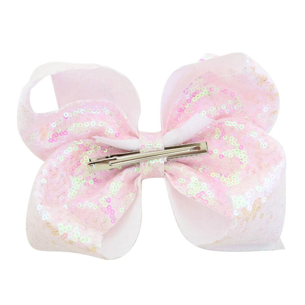 inSowni 8'' Big Large Glitter Bow Hair Clips Barrettes for Baby Girl Toddlers Kids Women (6PCS S2 (Size/8'')) by inSowni (Image #3)