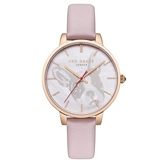 38b471c1138d Ted Baker Women s Kate Rose Gold Case MOP Dial Pink Leather Strap Wrist  Watch (Model  TE50272011)  Amazon.ca  Watches