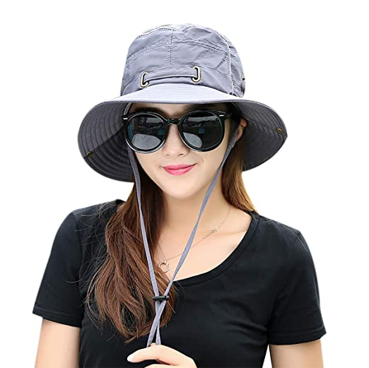 3bb63fc26bc Waterproof Summer Outdoor Bucket Hat with Wide Brim UV Protection UPF 50+  Sun Hat Fishing