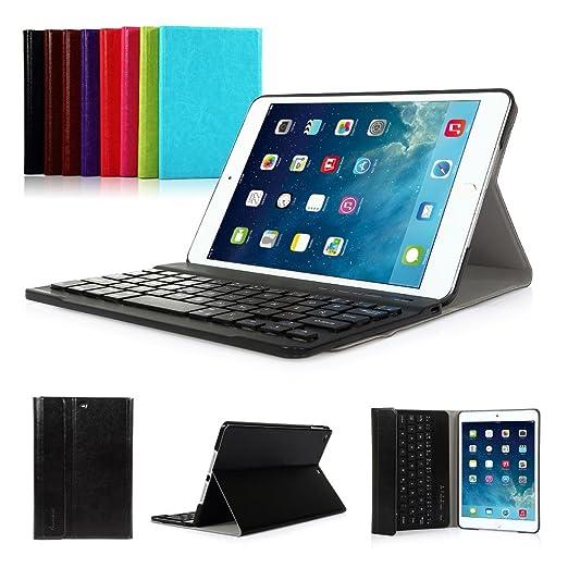 iPad 2017 9.7 New Pad Funda con Teclado Bluetooth ,CoastaCloud iPad 2017 9.7 Funda Cubierta Protectora con Teclado Inalambrico QWERTY Español para Apple ...
