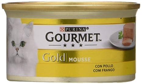 Purina Gourmet Gold Mousse Comida para Gatos con Pollo, 24 x 85 gr ...