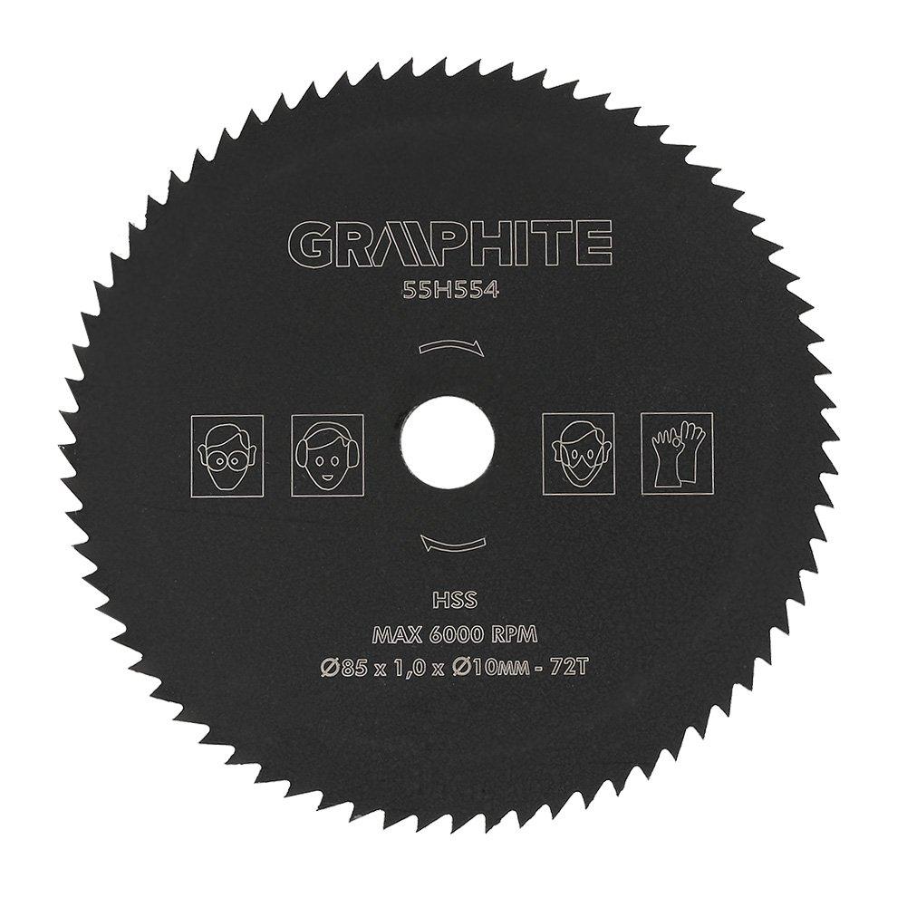 Lama per seghe circolari, 85mm * 10mm 72T HSS Lama per seghe circolari per dischi da taglio adatta per il taglio di cemento, tubi in PVC, legno, plastica, alluminio