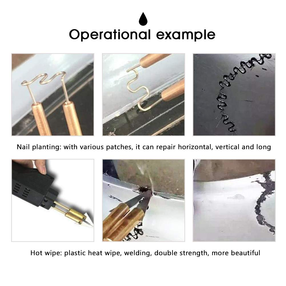 Plastic Welding Machine Portable Hot Stapler Plastic Repair Kit For Plastic Separating Repairing Welding 110V by Bespick (Image #2)