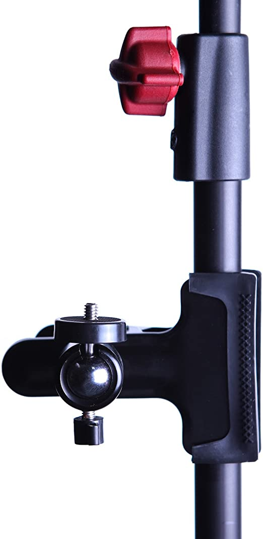 Digital SLR EZARC Camera Clip Clamp Laser Bracket Flash Reflector Mount Holder 360 Degree Rotating Base with 1//4 Screw Ball for Line Laser Level Video Came Studio Backdrop Camera SLR