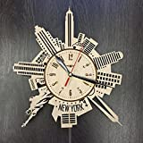 7ArtsStudio New York Wall Clock Made of WOOD – Perfect and Beautifully Cut – Decorate your Home with MODERN ART – UNIQUE GIFT for Him and Her – Size 12 Inches Review